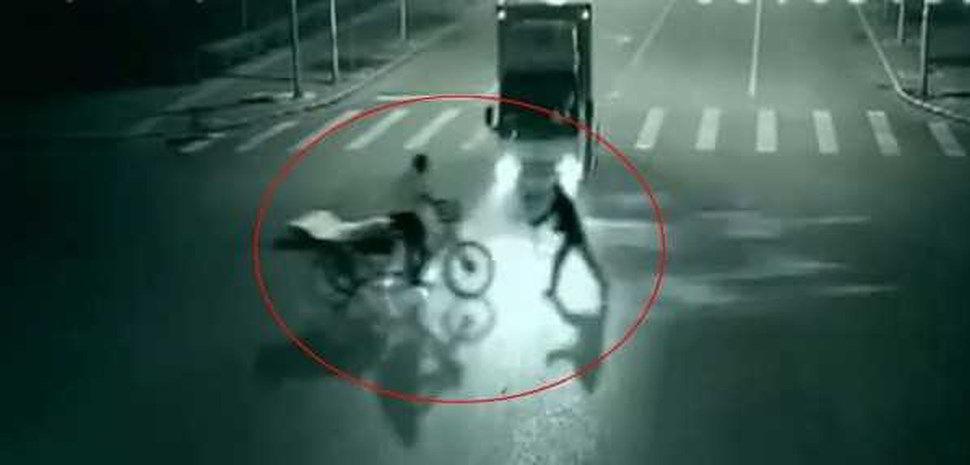Ragazza fantasma salva uomo da incidente - Video