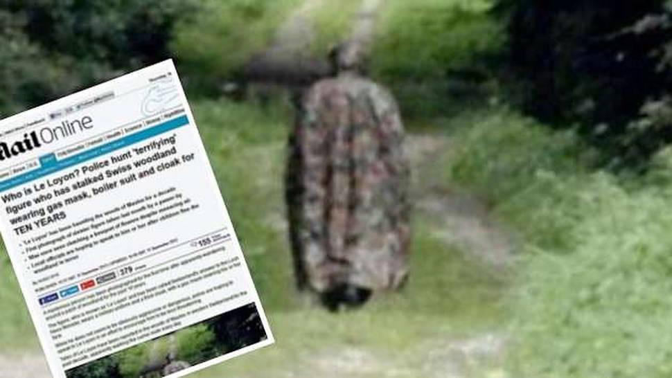 Una misteriosa figura fotografata nei boschi
