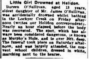 Terrorizzati dal fantasma della bambina annegata nel 1915-ritaglio