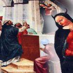 Demoni spiriti e la Madonna con le corna