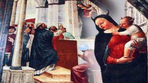 Demoni spiriti e l'affresco della Madonna con le corna