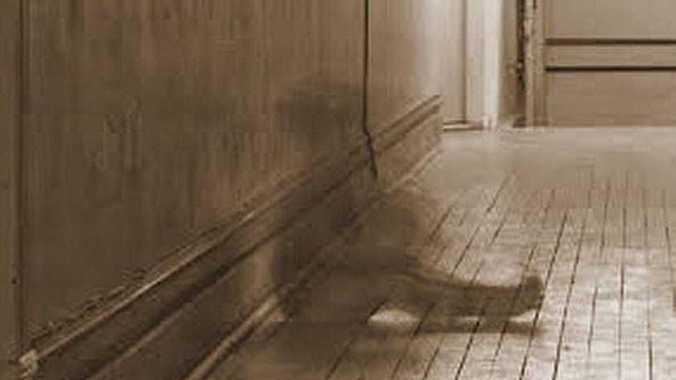 Un bambino fantasma in cucina