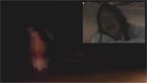 Posseduta dal demonio terrorizza la gente di notte in strada2