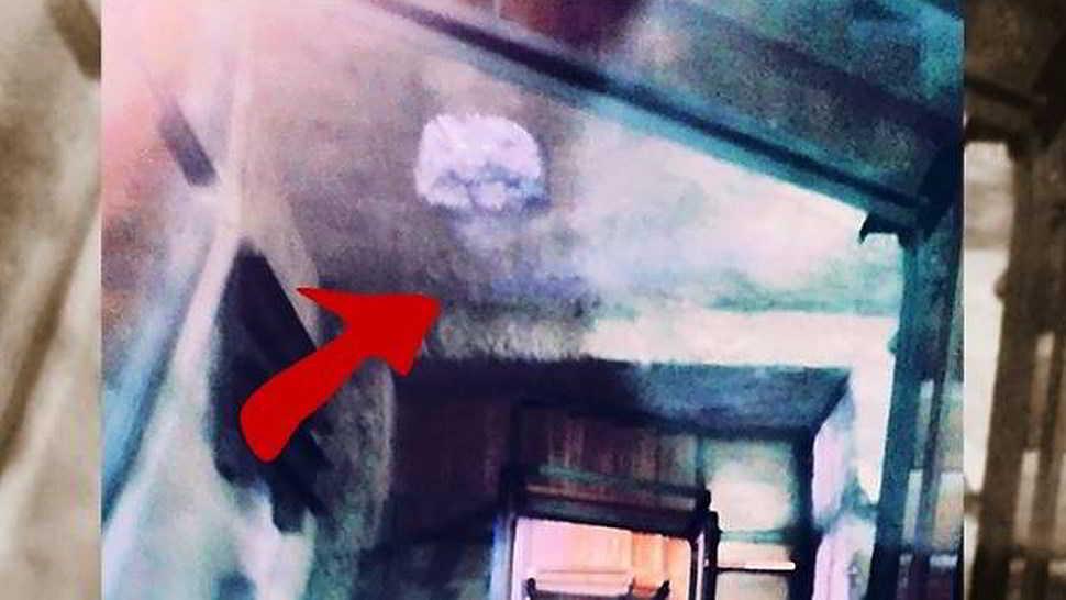 fantasma nel castello di valeggio fotografato nella torre
