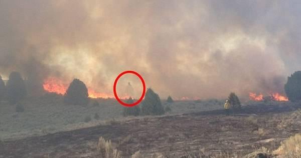 un incendio nasconde tra le fiamme un fantasma