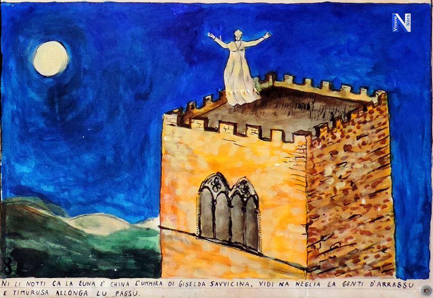 Madonna Giselda fantasma del Castello di Naro2